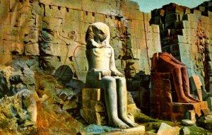 Egypt - Karnak. Statues of Amenophis I  & Thoutmosis II
