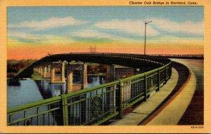 Connecticut Hartford Charter Oak Bridge Curteich