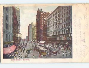 Pre-1907 STREET SCENE Chicago Illinois IL A0204