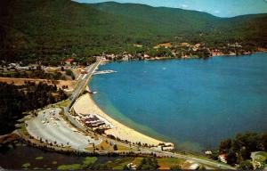 New York Lake George Aerial View 1961