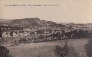 Perth Kinnoull Hill & Valley Of Tay New Golf Course Scotland Old Postcard