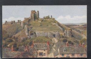 Dorset Postcard - Corfe Castle - Artist A.R.Quinton  HM696