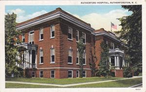 RUTHERFORDTON , North Carolina, 1930-40s ; Rutherfordton Hospital