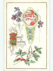 Divided-Back SANTA CLAUS CHRISTMAS SCENE Great Postcard W8305