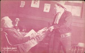 Cowboy Old West Movie Actor Exhibit Card LEO MALONEY The High Hand