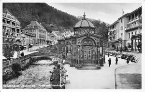 Wildbad im Schwarzwald Partie mit Trinkhalle Promenade Bridges