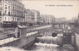 NANTES, Loire Atlantique, France, 1900-1910´s; Qual D'Orleans, L'Ecluse