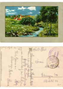 CPA Bluhende Fluren Meissner & Buch Litho Serie 2084 (730493)