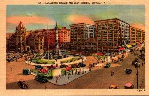 New York Buffalo Lafayette Square and Main Street