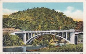 Swan Creek Bridge Shadow Rock Forsyth Missouri 1941