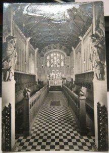 England Carisbrooke Castle Interior St Nicholas' Chapel - unposted