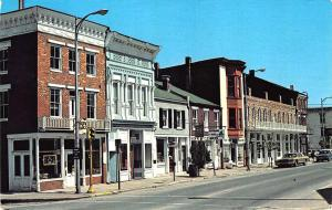 Hannibal MO Street View Store Fronts Old Cars Postcard