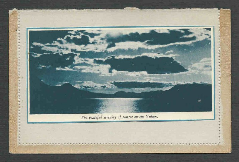 Ca 1939 CANADIAN PACIFIC LETTER CARD YUKON SUNSET ETC MINT