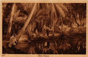 CPA Lehnert & Landrock 180 Dans l'oasis TUNISIE (873877)