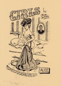 A Girl Girls Name Called Alice Risque Striptease Limited Edn Glamour Postcard