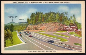 Tennessee Parking Area NEWFOUND GAP Great Smoky Mountains National Park - LINEN