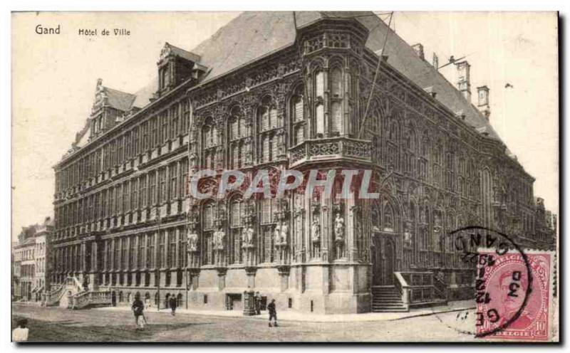 Postcard Old Ghent City Hall