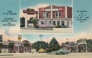 HARDEEVILLE , South Carolina , 30-40s ; Warren's Tourist Court & Restaurant