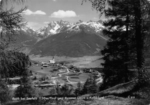 Reith bei Seefeld Tirol geg. Axamer Lizum u. Kalkkoegel Gesamtansicht Berg