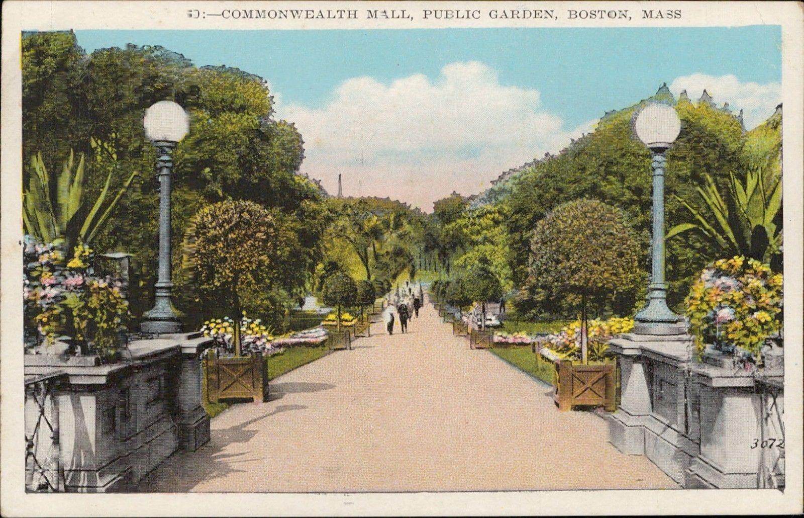 Commonwealth mall Public Garden Boston Massachusetts / HipPostcard