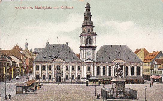 MANNHEIM, Marktplatz mit Rathaus, Baden-Wutternberg, Germany, 00-10s