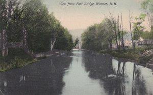 WARNER, New Hampshire, PU-1908; View From Foot Bridge