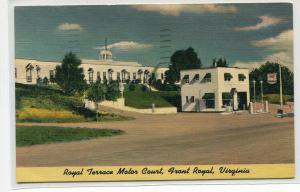 Royal Terrace Motor Court Front Royal Virginia 1951 linen postcard