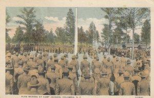 Camp Jackson , COLUMBIA , South Carolina , 1910s ; Flag Raising
