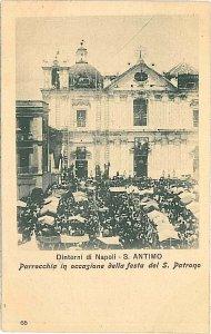 CARTOLINA d'Epoca - NAPOLI : S. ANTIMO : FESTA PARROCCHIALE