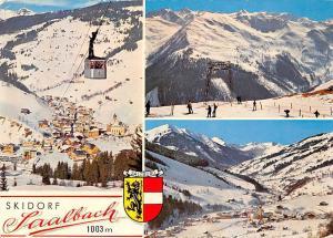 Skidorf Saalbach Seilbahn Schgebiet Talschluss Cable Car Skiers