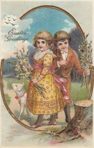 EASTER child couple , 1908
