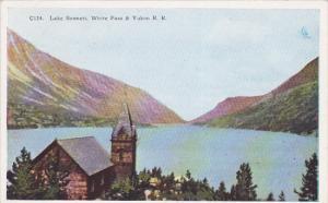 YUKON, Canada, 1900-1910's; Lake Bennett, Scene On White Pass & Yukon R.R.