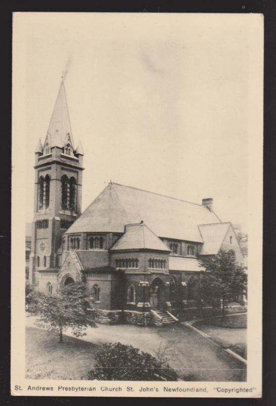 NEWFOUNDLAND - St Andrew's Presbyterian Church St John's - 1950s - Unused