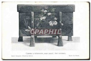 Old Postcard Safe wood lacquer clothes Japanese Art Japan Nippon