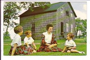 Loomcrafter's Studio, Gagetown, New Brunswick, Children in Tartan Dress