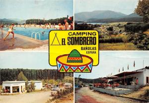 Spain Camping El Sombrero Banolas (Gerona) Swimming Pool Auto Cars