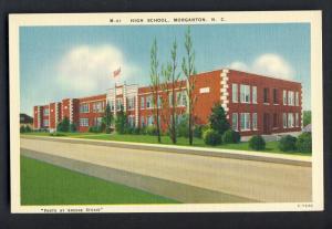 Morgantown, North Carolina/NC Postcard, High School