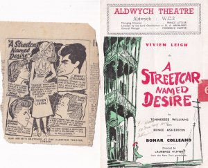 Vivien Leigh A Streetcar Named Desire Rare Comedy London Theatre Programme & ...