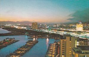 Hawaii Honolulu Waikiki's Likai Hotel & Ala Wai Yacht Harbor At Night