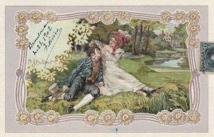 Art Nouveau Couple ; Artist SCHUBERT , PU-1902 ; #2