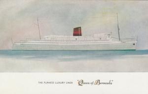 Sketch, The Furness Luxury Liner Queen of Bermuda 1930s