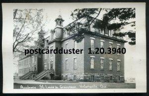 3940- VICTORIAVILLE Que 1940s St. Louis de Gonzaelle Academy.Real Photo Postcard