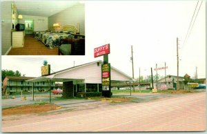 Calhoun, Georgia Postcard DUFFY'S MOTEL (North) Interstate 75 Roadside c1960s