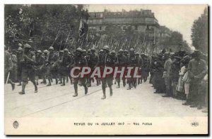 Old Postcard Army Review July 14, 1917 Our hairy