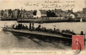 CPA  Cherbourg - Contre-Torpilleur entrant dans le Port  (632716)