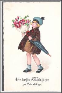 Birthday Best Wishes Postcard - [MX-191]
