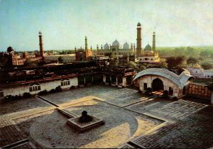 Pakistan Lahore Courtyard Of The Lahore Fort With Badshahi Mosque In The Back...
