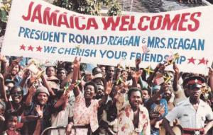 Jamaica Welcomes President Ronald Reagan