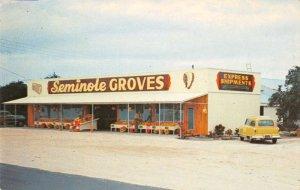Largo Florida birds eye view Seminole Groves citrus fruit vintage pc ZE686088