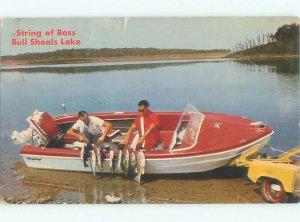 Pre-1980 FISHING SCENE Bull Shoals Lake Arkansas AR AF5641